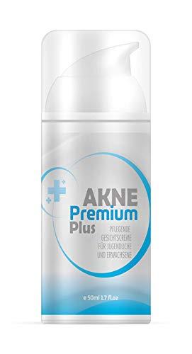 Akne Premium Plus Creme | Gesichtscreme für Jugendliche und Erwachsene | Anti Pickel und Mitesser | 50ml
