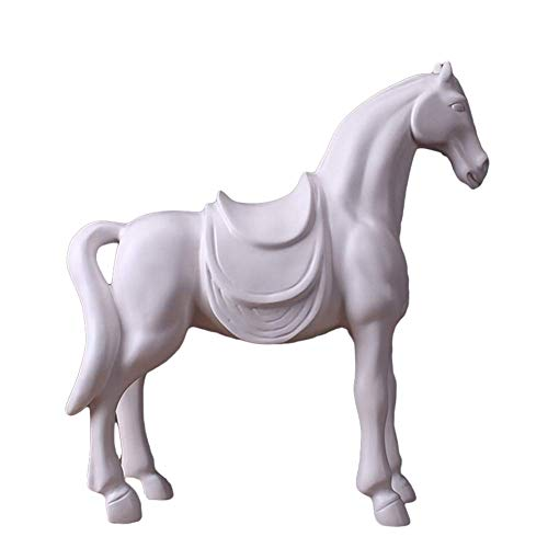 WSJF Statue Stunning Garden Ornament Sculpture Horse Abstract Sculpture Ornaments Resin Statue Animal Figure for Home Decoration Accessories Gifts Crafts 34 X 11.5 X 36CM