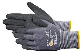 ATG 34-874 Maxiflex Ultimate - Nylon, Micro-Foam Nitrile Grip Gloves - Black/Gray - X-Large - 12 Pairper Pack