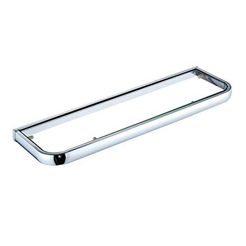 Badzubehör_50 cm Badzubehör Material Europäische Duschkabine Kosmetik Ständer Single Layer Glass_A8504 Chrom Schminktisch