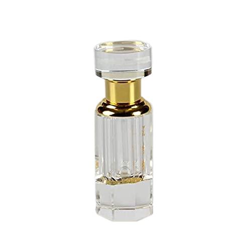 Botella Esencial Decorativa de la Botella de Perfume del Aceite cristalino vacío portátil de 3ml