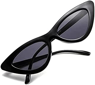 Retro Vintage Narrow Cat Eye Sunglasses for Women Clout Goggles Plastic Frame