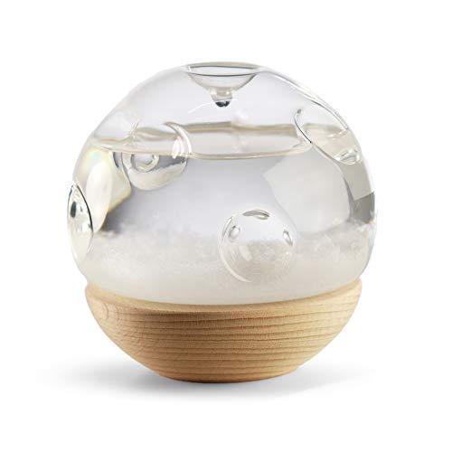 Monsterzeug Sturmglas zur Wettervorhersage Mond, Retro Wetterstation, Luftdruck, Barometer, Wasser Kristalle