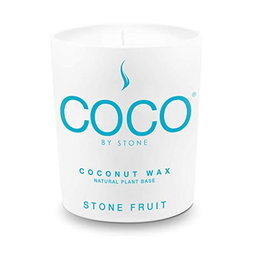 Stone Candle, Coco by Stone All Natural Coconut Wax Candle Stone Fruit 11oz