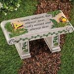 A.K Solar Garden Memorial Stone Bench with Sentiment