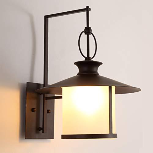 ZHBWJSH Wandleuchte Kreative Persönlichkeit Gyp Retro Wandlampe Solarschirm Outdoor Wasserdicht Terrasse Zimmer Einfache Nachttischlampe