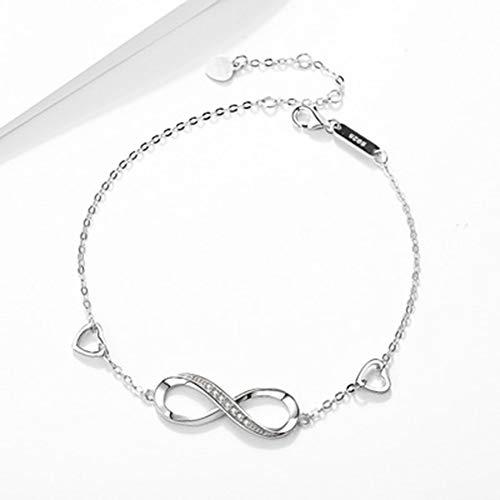 S925 plata 8 palabra brazalete de la manera de Europa y América carta de joyas de plata femenina