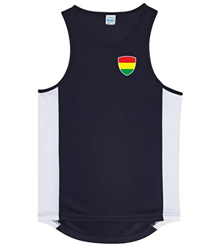 Nation Bolivien Trikot Tank Top Athletic Sport Gym ATH BR-SC (XL)
