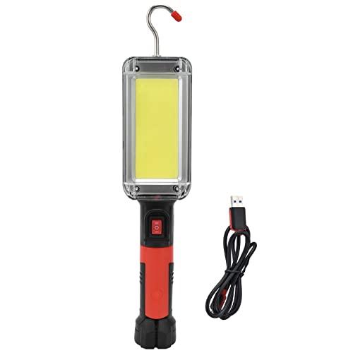 LED-Arbeitslampe, LED-Taschenlampe Inspektionslampe Wiederaufladbare Inspektionslampe Tragbare Handheld-USB-Taschenlampe Magnetische Arbeitslampe mit Haken für Haushaltswerkstatt Camping im Notfall