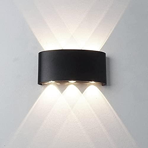 Universo Applique led da esterno ip65 lampada a parete moderno16w doppia luce (Nero - Luce naturale 4000K)