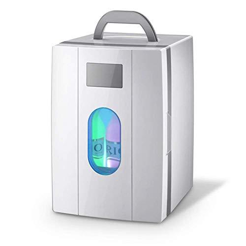 Refrigerador de automóviles, refrigeradores portátiles Mini-Pequeño nevera pequeña Dormitorio Dormitorio Calentador frío Refrigerador de doble uso (blanco) -White 23x26x33cm (9x10x13 pulgadas) peng