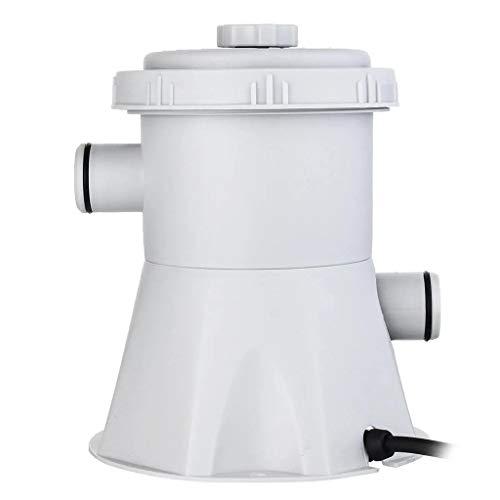 Makalon Filterpumpe, Poolpumpe Vorfilter für Schwimmbecken, AC 110V~50Hz / 20 Watt, 300 gal/h, Schwimmbadpumpe Sandfilteranlage Pool Pump
