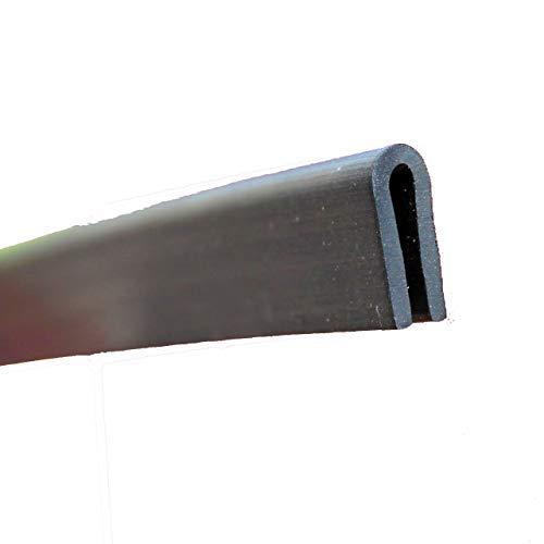EUTRAS Kantenschutz 1945 Fassungsprofil FP3008 Kantenschutz Dichtungsgummi-Spaltmaß 1,5-3,0 mm, Schwarz, 3 m