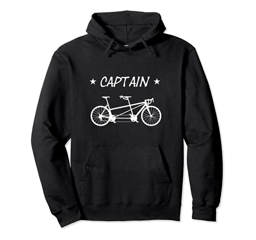Tandem Fahrrad Captain - Tandem Bike Radfahrer Pullover Hoodie