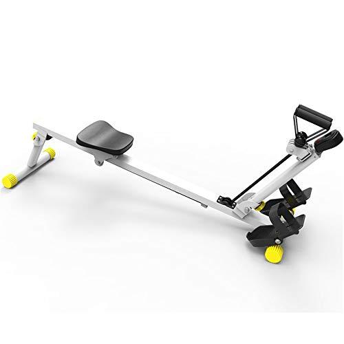 Zavddy Rudergerät Aerobic-Übung for Haushalts-Calorie Folding Rudergerät Fitnessstudio oder Haushalt Calorie Rudergerät Rower Orbital Rudergerät (Farbe : White, Size : 120x35x51cm)