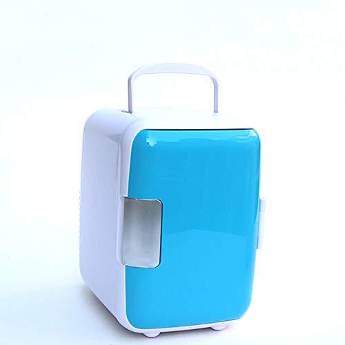JOMSK Mini eléctrica termoeléctrica Dual Calentamiento Enfriamiento Digital Enchufe el refrigerador for el Coche Refrigerador Electrico (Color : Blue, Size : 25 * 23 * 17cm)