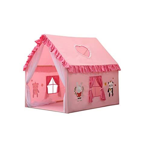 SZQ namiot do zabawy różowy i niebieski namiot dom ze wzorem kreskówkowym, architektów wnętrz, namiot do zabawy chłopcy narożnik do czytania dziewczynki - domek do zabawy (kolor: różowy, rozmiar: 100 * 126 * 120 cm)