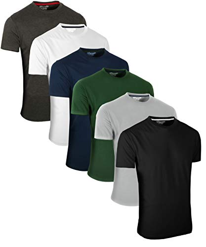 Full Time Sports FULL TIME SPORTS 6 Pack Sortiert Rundhals Tech T-Shirts (1) Small
