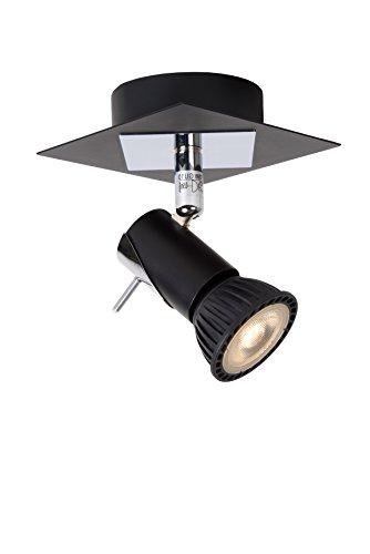 Lucide BRACKX-LED - Spot Mural - LED Dim. - GU10 - 1x5W 3000K - Noir