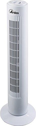 Ardes AR5T75 FREEDY Ventilatore a Torre, 3 velocit, Oscillazione Automatica Altezza 74 cm, Bianco