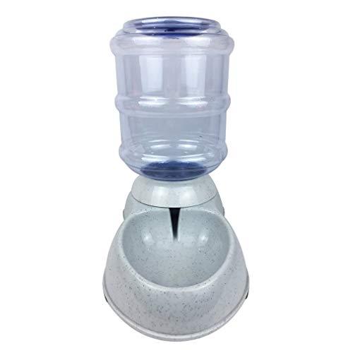 Comedero para Mascotas Pet Cat Dog Bebedero de Agua Alimentador de Alimentos Plato Botella de Agua Dispensador automático para Mascotas de Alta Capacidad (gray3.75L)