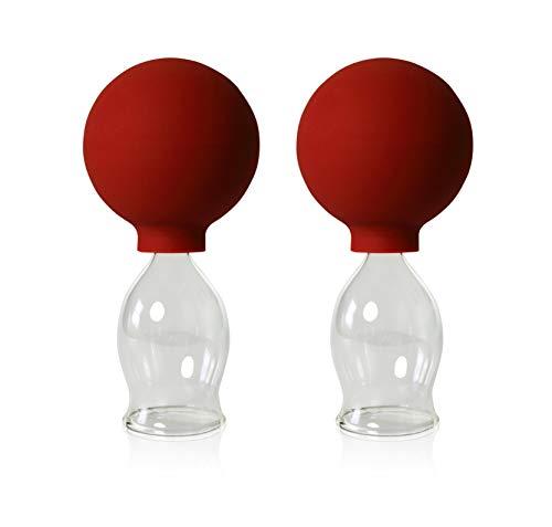 Schröpfgläser mit Ball 2 Stück 30mm zum professionellen, medizinschen, feuerlosen Schröpfen, Schröpfglas, Schröpfgläser, Lauschaer Glas das Original