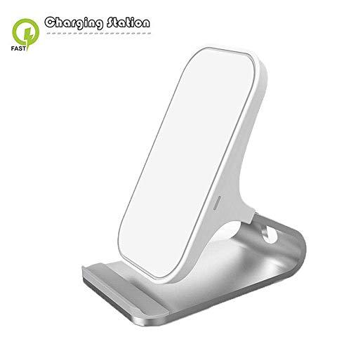 DBSCD Cargador inalámbrico rápido Aleación de Aluminio, estándar Certificado por Qi Compatible con Todos los teléfonos habilitados para Qi, iPhone X/XS/XR/XS Max/8/8 Plus, Samsung S7/S7 ed