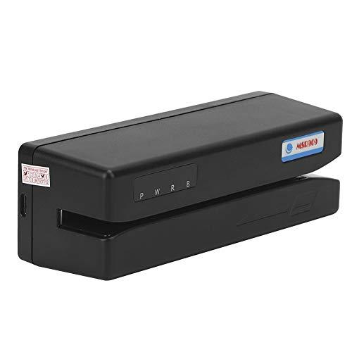 Weikeya Negro Tarjeta Leer y Escribir Dispositivo, Abdominales El plastico Hecho 300-4000 Oe Magnético Tarjeta DC5V USB Energía Suministro Escritor Codificador Mini