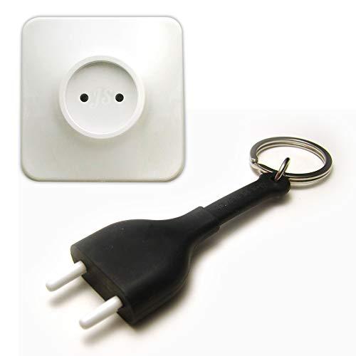 Preis am Stiel Unplug - Schlüsselanhänger Steckdose | Schlüsselhalter | Schlüssel