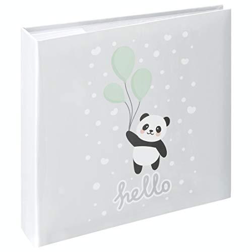 Hama Babyalbum Panda, Einsteckalbum für 200 Fotos im Format 10x15, Kinderalbum mit Beschriftungsfeld für Notizen und Selbstgestaltung, Baby Fotoalbum für Jungen und Mädchen, 22,5x22 cm, Kinder-Motiv