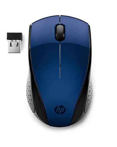 HP 220 - Ratón inalámbrico óptico Azul (Ambidiestro,Receptor USB, 3 Botones, 15 Meses batería)