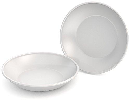 Ornamin Teller tief Ø 18 cm weiß 2-er Set Melamin (Modell 419) / Kunststoff-Essteller, Suppenteller