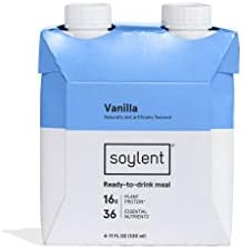4-Pack Soylent Vanilla Plant Protein Meal Replacement Shake, 11 Oz