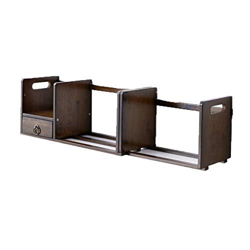 Extensible estantería de escritorio de la plataforma de madera de la plataforma del estante del estante del estante de la oficina del estante de la oficina del estante de la oficina del estante for la