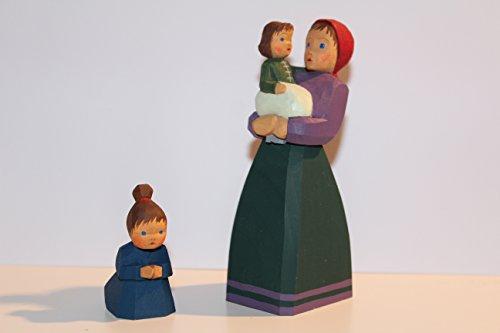 Stoff'l FINES FÜR KINDER Lotte Sievers-Hahn Krippenfiguren Set Mutter mit Kindern * 1119, 1430