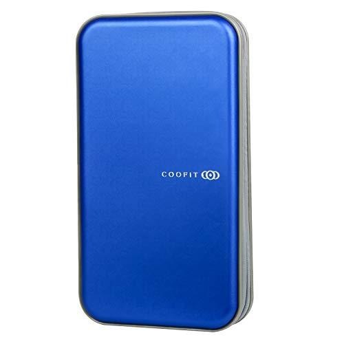 COOFIT CD Tasche CD Case CD/DVD/VCD Wallet Aufbewahrungs für 72 CDs/DVDs Tasche Mappe Blau (Blau)