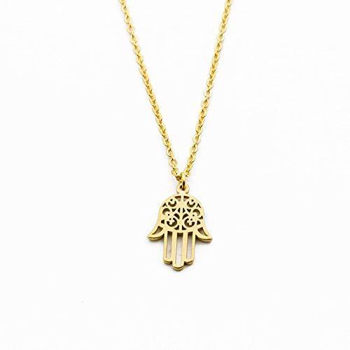 Collar De Pulsera De Soja Árabe Collar De Fátima De Oro De Acero Inoxidable Para Hombres Y Mujeres Islámico