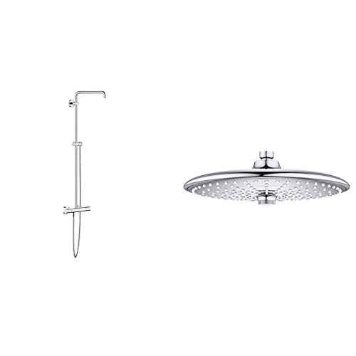 GROHE Euphoria Wall Mount Thermostatic Shower System with Hand & Shower Head