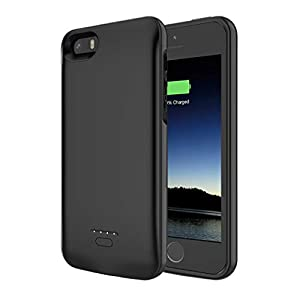 Battery Case For Iphone 55sse 4000mah Iphone Se Battery Charging Case For Iphone 5 Se 5s Magnetic Charger Case Protective Backup Power Case Cover For Iphone 55sse Black Not Fit 5c Model