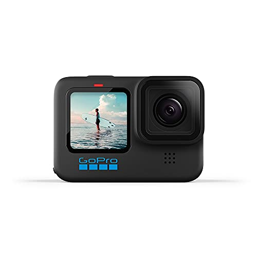 GoPro HERO10 Black - Cámara de acción a Prueba de Agua con LCD Frontal y Pantallas traseras táctiles, Video 5.3K60 Ultra HD, Fotos de 23MP, transmisión en Vivo de 1080p, cámara Web, estabilización