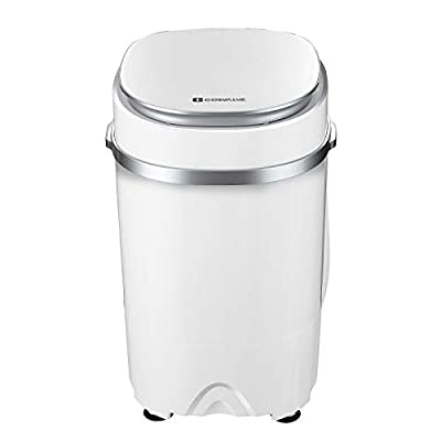 2-in-1 Portable Washing Machine Washer And Spin Dryer For Camping Dorms Apartments College Rooms 4.6 KG Washer Capacity White