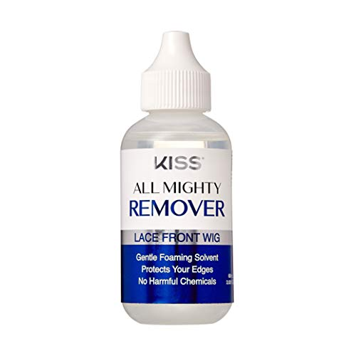 KISS All Mighty Lace Front Wig Remover- Gentle Foaming Solvent, Protect Your Edges, No Harmful chemicals 60mL (2.03 fl OZ)- KAMR01 (Remover)