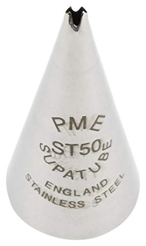 PME Seamless Stainless Steel Small Leaf Supatube, Decorating Tip, no. 50