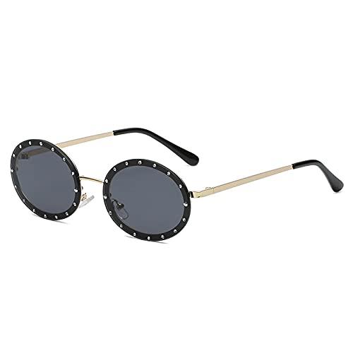 Occhiali da Sole Sunglasses Occhiali da Sole Vintage con Diamanti Occhiali da Sole di Design di Lusso da Donna Occhiali da Sole Rotondi Montature con Strass Occhiali da V