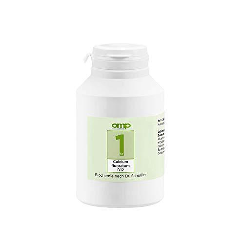 Schüssler Salz Nr. 1 Calcium fluoratum D12 | 1000 Tabletten | Das Salz des Bindegewebes, der Haut und Gelenke | glutenfrei
