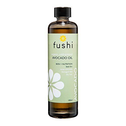 Fushi Organic Avocado Oil 100ml | Virgin & Fresh-Pressed | Rich in Vitamin C, A, B6, Magnesium, Lecithin and Potassium | For Inner Nutrition, Damaged Skin, Dry Skin | Ethical, Vegan & Made in the UK