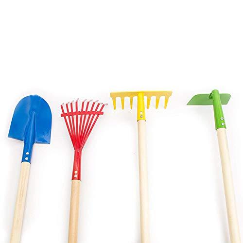 HBDY Juego de herramientas de jardinería de jardín de CHildren'S con pala de flores herramienta de plantación de jardinería práctico tubo de pala de flores para niños jardín de trabajo juguete