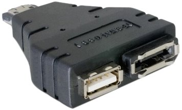 DeLock Adapter Power-Over-eSATA > 1x eSATA und 1x USB