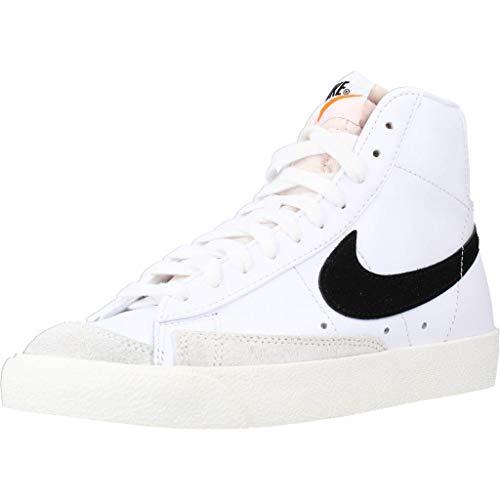 Nike W Blazer Mid '77, Scarpe da Basket Donna, White/Black-Sail, 41 EU