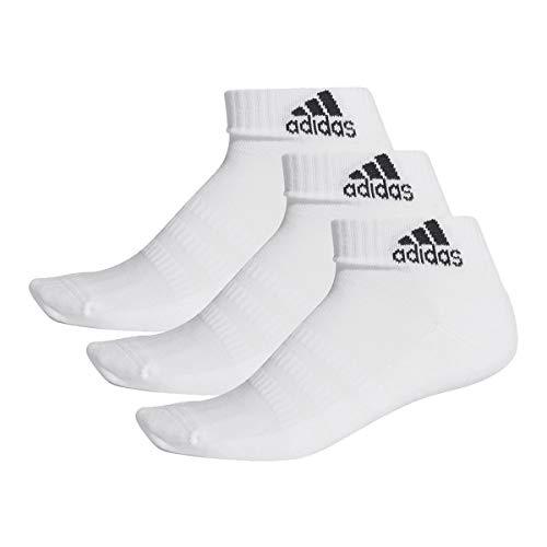 adidas 3 Paar Performance Sneaker/Quarter Socken Unisex Kurzsocke, Farbe:White, Socken & Strümpfe:37-39